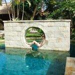 The resort's spa pool