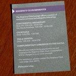 3 Regency Club Benefits