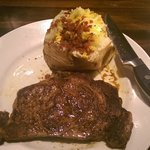 Ribeye and loaded baked potato...delicious!