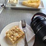 Kool Spot lemon tart and macadamia slice - yum!
