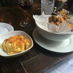 Max's Chicken and side of macaroni and cheese