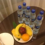 Welcome fruit plate, we requested for more mangoes in place of the other fruits..