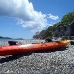 Kayak near the ruins