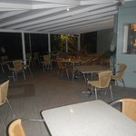Eating area at night