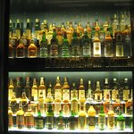 One of many walls of  the Whiskey Collection