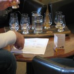 A whiskey tasting experience from the Bar (additional cost)