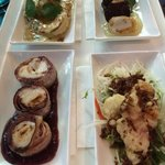 Share platters - tiger prawns, crocodile tails, Moroton bay bugs and scallops