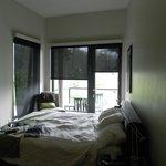 bed....should have taken pics before settling in