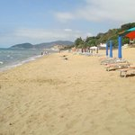 Strand noch leer Ende Mai