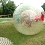 Zorb ball just been pushed
