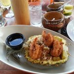 Pineapple fried rice with coconut shrimp! yum!
