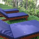 Sunloungers to enjoy the sights and sounds of Kalahe