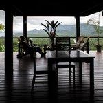 The deck area of the villa