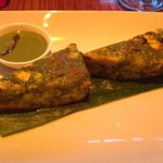 Amazing paneer tikka starter served with green chilli sauce