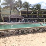 Pool in front of coral wing