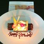 Gâteau d'anniversaire offert par l'hôtel