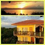 sunrise over the resort