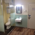 enclosed shower/toilet