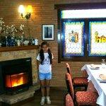 Irene comiendo en Cogolludo