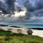 playa norte con tormenta