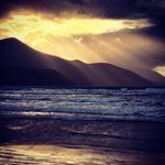 Sunset in winter from Rossbeigh beach.