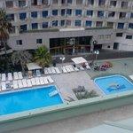 Parte de las piscinas vistas desde la 5ª planta