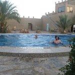 Alguns do grupo na piscina