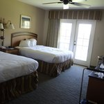 our huge room with 2 queen beds