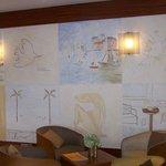 Lobby paintings.
