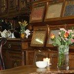 Display of teas in the tea room