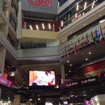 View of CNN Center food court, connected to hotel