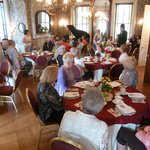The historical society holds teas, lectures, and other programs in the parlor.