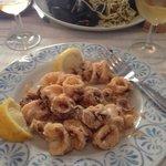 Calamaretti fritti and spaghetti palmaria -  unfortunately after a few bites :)