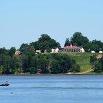 Mt Vernon across the Potomac (an interesting contrast to the farmer's house)
