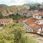 Vista do hotel para a cidade de Ouro Preto