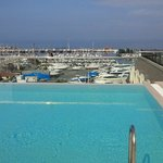 Roof top pool overlooking the Marina