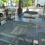 Gas grills and tables