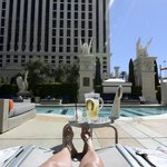 The only thing we enjoyed at Caesars Palace; the pool