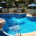 kitsch Australia shaped pool area has a nice spa too