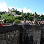 View of the Fortress from the Alte Mainmuhle Restaurant