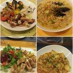 Antipasto elbano, zuppa di farro, tagliata di tonno e stoccafisso pinoli olive e cipolla: top!