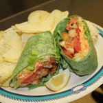 One of our Specials...a Buffalo Chicken wrap