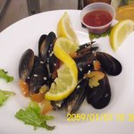 delicious steamed mussels