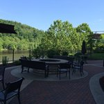Patio overlooking the river.