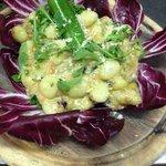 Gnocco vegetariano: zucchine,carote e radicchio :)