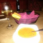 Tomato Basil Cream Soup and Complimentary Breadsticks