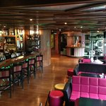 view of bar from second level