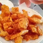 Best gluten free pork rinds!  This was our 1st time here. I have never had fresh cooked pork rin