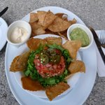 nachos by the pool
