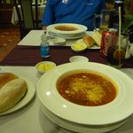 Best minestrone soup from hotel restaurant